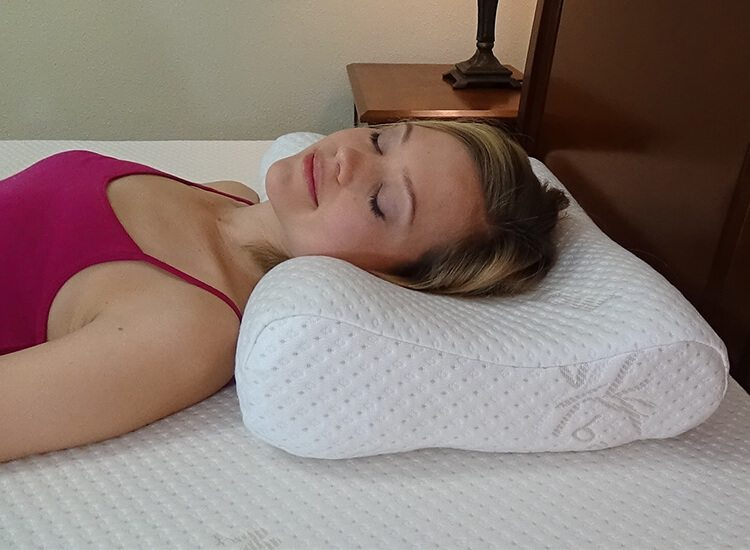 contour pillow with back sleeper