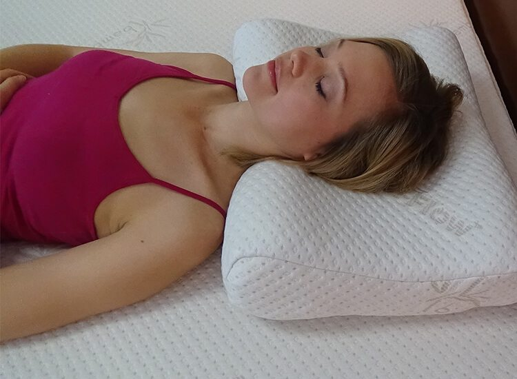 contour pillow with abck sleeper