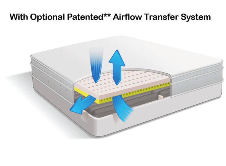 Air Pedic 700 Optional Patented Airflow Transfer Sytem