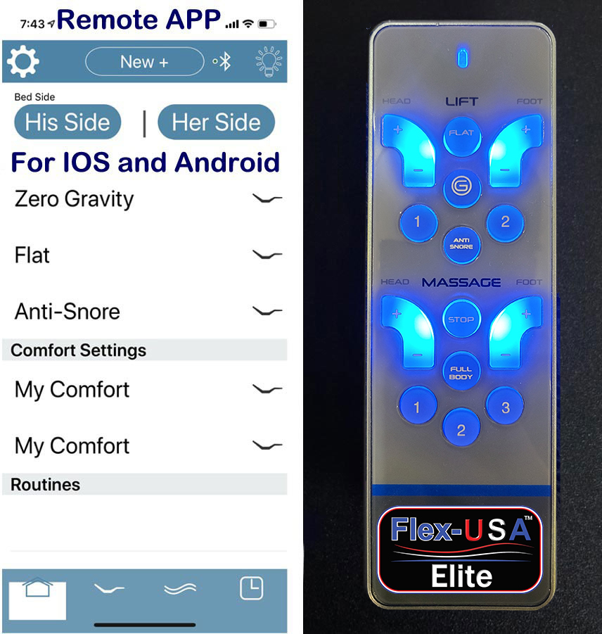 Smart Bed With Remote And Phone App